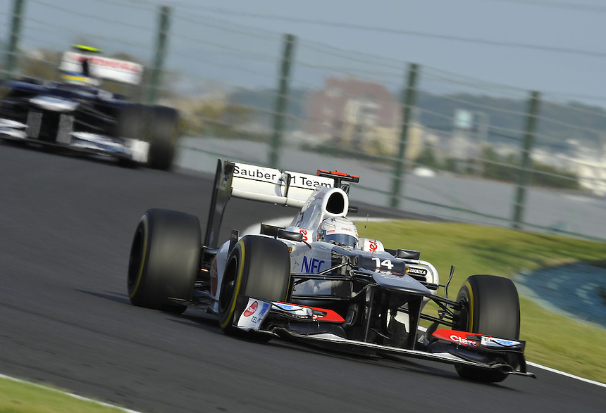 .Kamui Kobayashi (JPN), Sauber F1 Team ..2012 FIA Formula One World Championship - Japanese Grand Prix - Suzuka Circuit - Suzuka - Japan - Friday 5th October 2012...