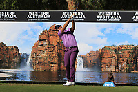 Berry Henson (USA) in action on the 12th during Round 2 of the ISPS Handa World Super 6 Perth at Lake Karrinyup Country Club on the Friday 9th February 2018.<br /> Picture:  Thos Caffrey / www.golffile.ie<br /> <br /> All photo usage must carry mandatory copyright credit (&copy; Golffile | Thos Caffrey)