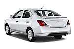 Car pictures of rear three quarter view of a 2015 Nissan Versa 1.6 Sv Cvt 4 Door Sedan angular rear