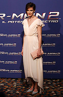 """L'attrice Anna Wood posa sul red carpet per l'anteprima del film """"The Amazing Spider-Man 2 - Il potere di Electro"""" a Roma, 14 aprile 2014.<br /> Actress Anna Wood poses on the red carpet for the premiere of the movie """"The Amazing Spider-Man 2"""" in Rome, 14 April 2014.<br /> UPDATE IMAGES PRESS/Riccardo De Luca"""