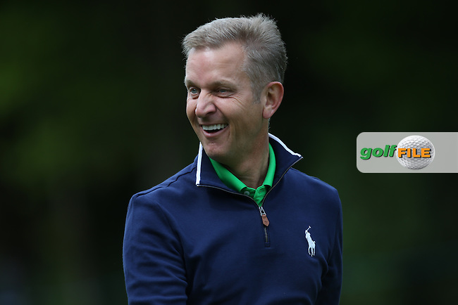 TV show host Jeremy Kyle  during the Pro-Am ahead of the 2015 BMW PGA Championship over the West Course at Wentworth, Virginia Water, London. Picture David lloyd, www.golffile.ie: 20/05/2015