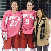 Tara Watchorn (BU - 27), Jenn Wakefield (BU - 9) and Jillian Kirchner were named to Hockey East's All Decade team. - The Boston University Terriers defeated the visiting Northeastern University Huskies 3-2 on Saturday, January 28, 2012, at Agganis Arena in Boston, Massachusetts.