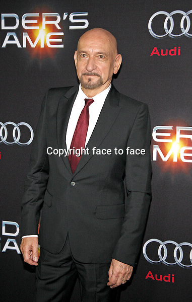 Sir Ben Kingsley at the Los Angeles Premiere of &quot;Ender's Game&quot; held at the TCL Chinese Theater in Hollywood on October 28, 2013 in Los Angeles, California.<br />