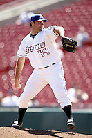 May 21, 2009:  Relief Pitcher Connor Robertson of the Buffalo Bisons, International League Triple-A affiliate of the New York Mets, delivers a pitch during a game at Coca-Cola Field in Buffalo, NY.  Photo by:  Mike Janes/Four Seam Images