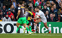Saturday 7th December 2019 | Ulster Rugby vs Harlequins<br /> <br /> Stuart McCloskey during the Heineken Champions Cup Round 3 clash in Pool 3, between Ulster Rugby and Harlequins at Kingspan Stadium, Ravenhill Park, Belfast, Northern Ireland. Photo by John Dickson / DICKSONDIGITAL