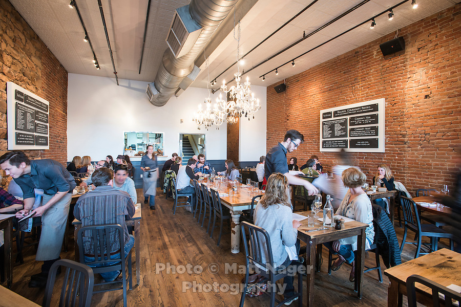The Kitchen in Boulder, Colorado, Friday, March 13, 2015. Kimbal Musk is CEO of The Kitchen restaurant group, with its flagship in Boulder. It is a &quot;farm-to-table&quot; restaurant serving good food at decent prices. Musk also heads Learning Gardens, a non-profit that puts classroom-size gardens in schools so kids can center a curriculum around growing food.  <br /> <br /> Photo by Matt Nager