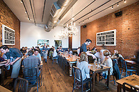 """The Kitchen in Boulder, Colorado, Friday, March 13, 2015. Kimbal Musk is CEO of The Kitchen restaurant group, with its flagship in Boulder. It is a """"farm-to-table"""" restaurant serving good food at decent prices. Musk also heads Learning Gardens, a non-profit that puts classroom-size gardens in schools so kids can center a curriculum around growing food.  <br /> <br /> Photo by Matt Nager"""