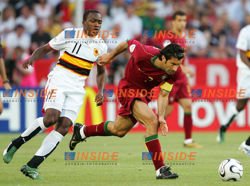 Koln 11/6/2006 World Cup 2006.Angola Portugal - Angola Portogallo 0-1.Photo Andrea Staccioli Insidefoto.Luis Figo Portogallo Mateus Angola
