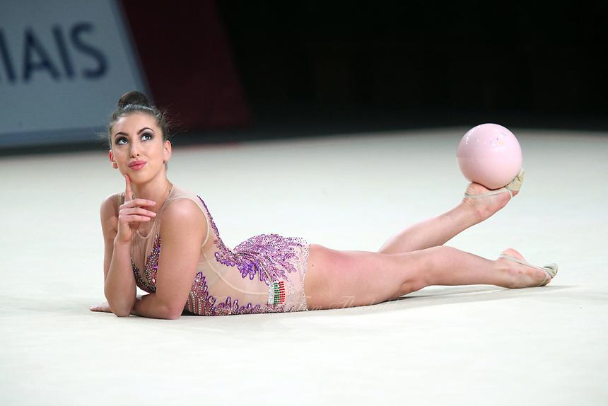 Katrin Taseva of Bulgaria performs at Thiais Grand Prix on March 25, 2018.