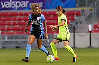 Chicago, IL - Sunday Sept. 04, 2016: Casey Short, Nahomi Kawasumi during a regular season National Women's Soccer League (NWSL) match between the Chicago Red Stars and Seattle Reign FC at Toyota Park.