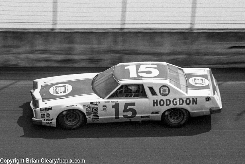 Bobby Allison, #15 Ford, 1979 Firecracker 400 NASCAR race, Daytona International Speedway, Daytona Beach, FL, July 4, 1979.  (Photo by Brian Cleary/ www.bcpix.com )