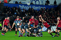 Shaun Venter of Ospreys in action during the Heineken Champions Cup Round 1 match between the Ospreys and Munster at the Liberty Stadium in Swansea, Wales, UK. Saturday 16th November 2019