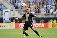 Stefani Miglioranzi (6) of the Philadelphia Union. The Philadelphia Union and the Kansas City Wizards played to a 1-1 tie during a Major League Soccer (MLS) match at PPL Park in Chester, PA, on September 04, 2010.