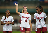 STANFORD, CA - November 23, 2018: Jojo Harber at Laird Q. Cagan Stadium. The top seeded Stanford Cardinal defeated the Tennessee Volunteers 2-0 in the Quarterfinal of the NCAA tournament.