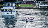 Henley Royal Regatta, Henley on Thames, Oxfordshire, 28 June - 2 July 2017.  Thursday  19:29:25   29/06/2017  [Mandatory Credit/Intersport Images]<br /> <br /> Rowing, Henley Reach, Henley Royal Regatta.<br /> <br /> The Double Sculls Challenge Cup<br />  S.J. Woodfine &amp; H. Bond (Vesta Rowing Club)