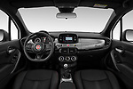 Stock photo of straight dashboard view of 2020 Fiat 500X Sport 5 Door SUV Dashboard