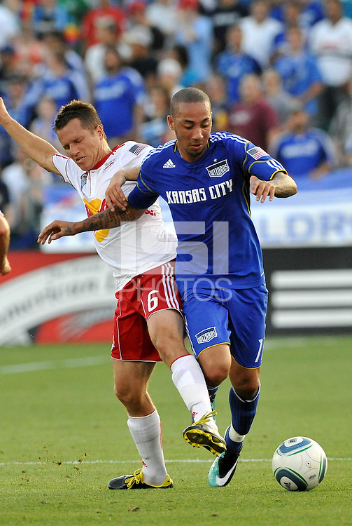 Ryan Smith, Seth Stammler #6...Kansas City were defeated 3-0 by New York Red Bulls at Community America Ballpark, Kansas City, Kansas.