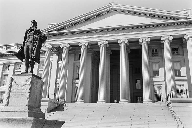 United States Department of the Treasury in March 1995. (Photo by Laura Patterson/CQ Roll Call via Getty Images)