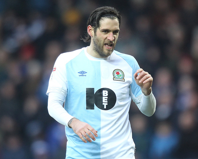 Blackburn Rovers Danny Graham<br /> <br /> Photographer Mick Walker/CameraSport<br /> <br /> The EFL Sky Bet Championship - Blackburn Rovers v Ipswich Town - Saturday 19 January 2019 - Ewood Park - Blackburn<br /> <br /> World Copyright &copy; 2019 CameraSport. All rights reserved. 43 Linden Ave. Countesthorpe. Leicester. England. LE8 5PG - Tel: +44 (0) 116 277 4147 - admin@camerasport.com - www.camerasport.com
