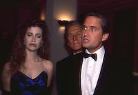 Michael Douglas & Deidre Douglas 1987 By Jonathan Green