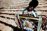 Betim_MG, Brasil...Encontro Mineiro de Congado em Betim, Minas Gerais. A festa acontece no ultimo domingo de agosto, todos os anos, homenageando Nossa Senhora do Rosario. O Congado e uma das mais importantes manifestacoes culturais e religiosas do Brasil. De carater popular o congado tem origem africana e portuguesa considerada assim uma manifestacao afro-luso-brasileira. ..Mineiro Meeting of Congado in Betim, Minas Gerais.The festival is held on the last Sunday of August, every year, honoring Lady of the Rosary. The Congado is one of the most important cultural and religious practices in Brazil. Popular character of the Congo has African and Portuguese as well considered a manifestation Luso-Brazilian-African...Foto: NIDIN SANCHES / NITRO.