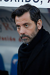 Getafe´s coach Quique Sanchez Flores during 2014-15 La Liga match at Alfonso Perez Coliseum stadium in Getafe, Spain. February 08, 2015. (ALTERPHOTOS/Victor Blanco)