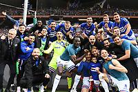 Sampdoria players celebrate at the end of the match <br /> Genova 14-04-2019 Stadio Luigi Ferraris Football Calcio Serie A 2018/2019 Sampdoria - Genoa <br /> Foto Matteo Gribaudi / Image Sport / Insidefoto