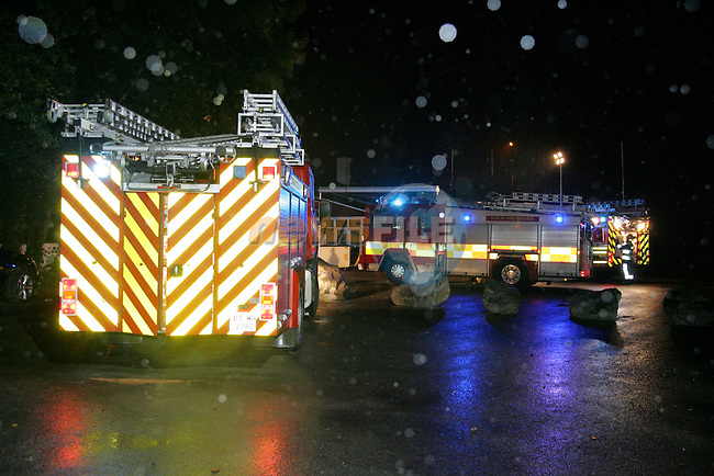 Old mill hotel in Julianstown Co Meath , Fire Broke out in one of the Down Stairs rooms and spread to the adjoining rooms, Drogheda Fire service backed up by Balbriggan and Ashbourne fire service brought the blase under control and vented the building..Photo: Newsfile/Fran Caffrey.