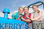 Mary Griffin, Ciarda Barton and Isobelle Barton Keel checking out the tractors at the Vintage show in Keel on Sunday..