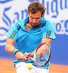 26.04.2014 Barcelona, Spain. ATP500 , Barcelona Open Banc Sabadell. Semi-final. Picture show Ernests Gulbis (LAT) in action at central court