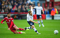 Preston North End's Daryl Horgan is fouled by Accrington Stanley's Tom Dallison<br /> <br /> Photographer Kevin Barnes/CameraSport<br /> <br /> The Carabao Cup - Accrington Stanley v Preston North End - Tuesday 8th August 2017 - Crown Ground - Accrington<br />  <br /> World Copyright &copy; 2017 CameraSport. All rights reserved. 43 Linden Ave. Countesthorpe. Leicester. England. LE8 5PG - Tel: +44 (0) 116 277 4147 - admin@camerasport.com - www.camerasport.com