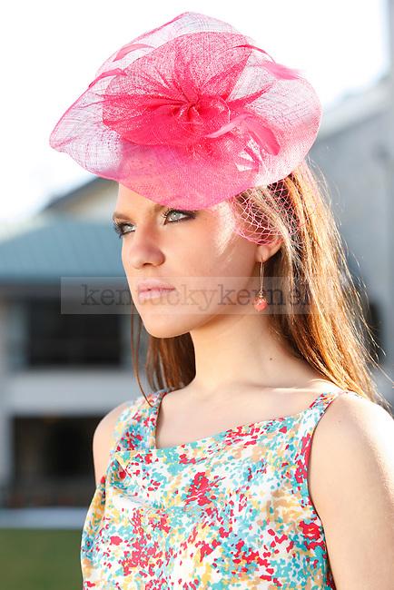 Keeneland spring fashion photo shoot.  Photo by Quianna Lige | Staff