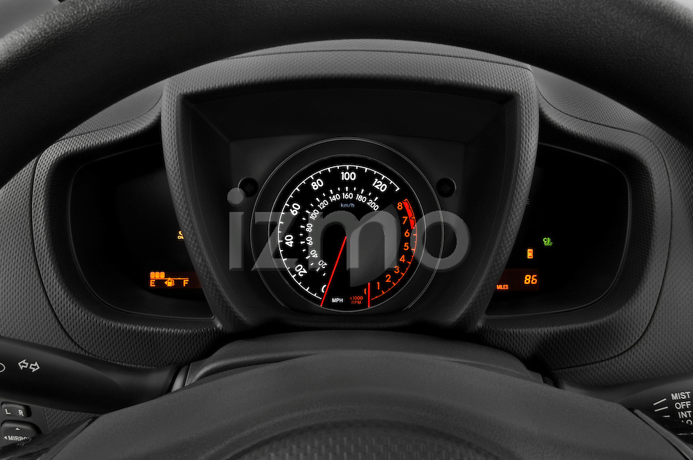 Instrument panel detail view of a 2008 Scion XD