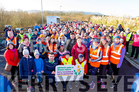 Minister Brendan Griffin TD ready for road at the Operation Transformation for the National Walk Day in the Wetlands on Saturday.