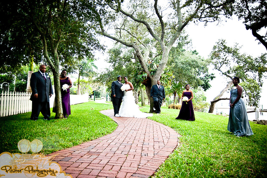 Christinia Lewis and Trevor DeLaney during their wedding on Saturday, October 29, 2011 at the Ryckman Park in Melbourne, Florida. They got ready at the Hilton Rialto, then the ceremony at Ryckman Park and the reception at the Realtor Conference Center in Melbourne Florida. (Willie J. Allen Jr. of http://www.PilsterPhotography.net)