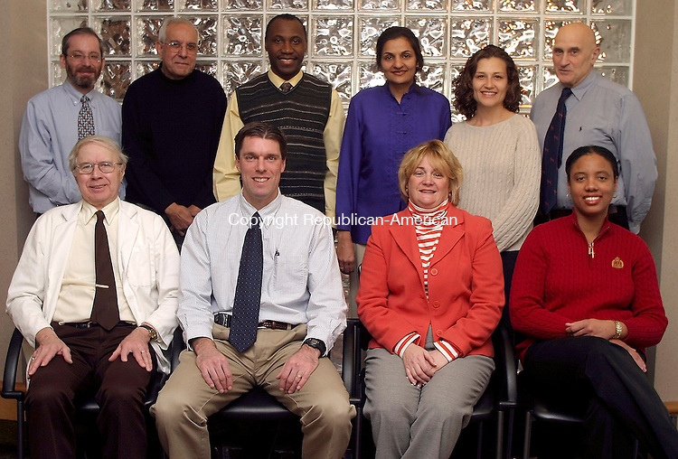 MIDDLEBURY, CT-- 02 FEBUARY 2005   020205DA01.JPG -- Alliance Medical Group of Greater Waterbury. Standing L-R Pediatricians Ephraim Bartfeld M.D., Ghulam Jilani M.D. Kweku Sam M.D., Farah Choudhry M.D., Angela Orsini-Garry A.P.R.N., Sitting L-R, David Reed M.D., Internal Medicine Brian Roenhein D.O. Patricia Casey A.P.R.N. and Lynn Phillips M.D. For marketplace. Staff photo. Darlene Douty.