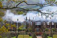 BNPS.co.uk (01202 558833)<br /> Pic: GrahamHunt/BNPS<br /> <br /> Historic Grade 1 listed Tudor Manor Parnham House, destroyed by fire in April 2017.<br /> <br /> Phoenix from the flames...<br /> <br /> A stately home which was burnt to the ground three years ago could now be restored after a buyer was finally found for it.<br /> <br /> Grade I listed Parnham House, near Beaminster, Dorset, is now just a charred shell of the magnificent mansion it once was following the fire in April 2017.<br /> <br /> Its previous owner, hedge fund manager Michael Treichl, was arrested on suspicion of arson only to later drown in an apparent suicide. <br /> <br /> The Elizabethan manor, which had been worth £15m before the blaze, was on the market for a cut-price £2.5million due to the scale of the damage of it.<br /> <br /> The price the private individual paid for the 38,000sq ft property has not been disclosed.