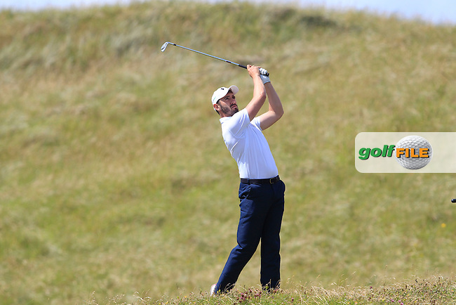 Mark Morrissey (Mount Wolseley) on the 4th during Round 2 of the South of Ireland Amateur Open Championship at LaHinch Golf Club on Thursday 23rd July 2015.<br /> Picture:  Golffile | Thos Caffrey