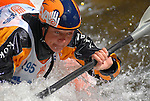 2 June 2007: Australian kayaker, Tonya Faux focuses on her next move in the Pro Women's Freestyle competition at  the Teva Mountain Games, Vail, Colorado.