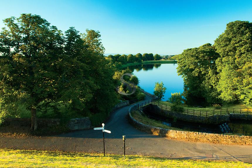 Evening light over Ryat Linn Reservoir, Dams to Darnley Country Park, Barrhead, East Renfrewshire