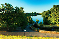 Evening light over Ryat Linn Reservoir, Dams to Darnley Country Park, Barrhead, East Renfrewshire