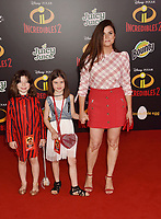HOLLYWOOD, CA - JUNE 05: Tiffani Thiessen attends the premiere of Disney and Pixar's 'Incredibles 2' at the El Capitan Theatre on June 5, 2018 in Los Angeles, California.<br /> CAP/ROT/TM<br /> &copy;TM/ROT/Capital Pictures