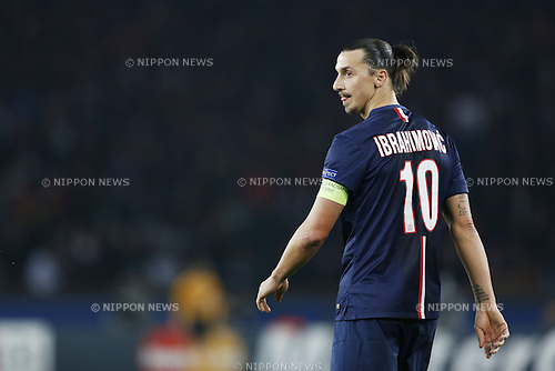 Zlatan Ibrahimovic (PSG), NOVEMBER 25, 2014 - Football / Soccer : UEFA Champions League Group F match between Paris Saint-Germain 3-1 AFC Ajax at the Parc des Princes Stadium in Paris, France. (Photo by Mutsu Kawamori/AFLO) [3604]