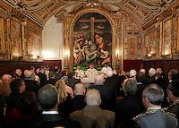 Apertura Anno Giudiziario nel distretto di Napoli nello storico salone dei Busti di Castel Capuano<br /> messa del cardinale Sepe