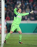 FUSSBALL   DFB POKAL   SAISON 2011/2012   VIERTELFINALE VfB Stuttgart - FC Bayern Muenchen                      08.02.2012 Torwart Manuel Neuer (FC Bayern Muenchen)