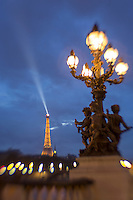 Eiffel tower from Pont Alexandre, Paris, France (lens blur effect)