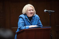 "United Nations Week 2019: Gender, Sexuality and Collective Action presents keynote speaker Ambassador Melanne Verveer, Executive Director, Georgetown Institute for Women, Peace and Security, talking about ""The UN Sustainable Development Goals: A Gender Perspective and Call to Action"" on Tuesday, February 5, 2019 in Choi Auditorium.<br /> (Photo by Marc Campos, Occidental College Photographer)"
