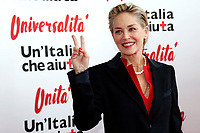Sharon Stone<br /> Roma 02/12/2018. Palazzo dei Congressi. L'attrice Sharon Stone riceve la croce d'oro al merito dalla Croce Rossa Italiana durante il Jump 2018.<br /> Rome July 30th 2018. Actress Sharon Stone receives the Gold Medal of Merit from Italian Red Cross during the event Jump 2018.<br /> Foto Samantha Zucchi Insidefoto