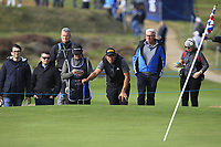 Gavin Green (MAS) on the 14th green during Round 2 of the Sky Sports British Masters at Walton Heath Golf Club in Tadworth, Surrey, England on Friday 12th Oct 2018.<br /> Picture:  Thos Caffrey | Golffile<br /> <br /> All photo usage must carry mandatory copyright credit (&copy; Golffile | Thos Caffrey)