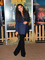 "LOS ANGELES, USA. October 11, 2019: Rosario Dawson at the premiere of ""Zombieland: Double Tap"" at the Regency Village Theatre.<br /> Picture: Paul Smith/Featureflash"